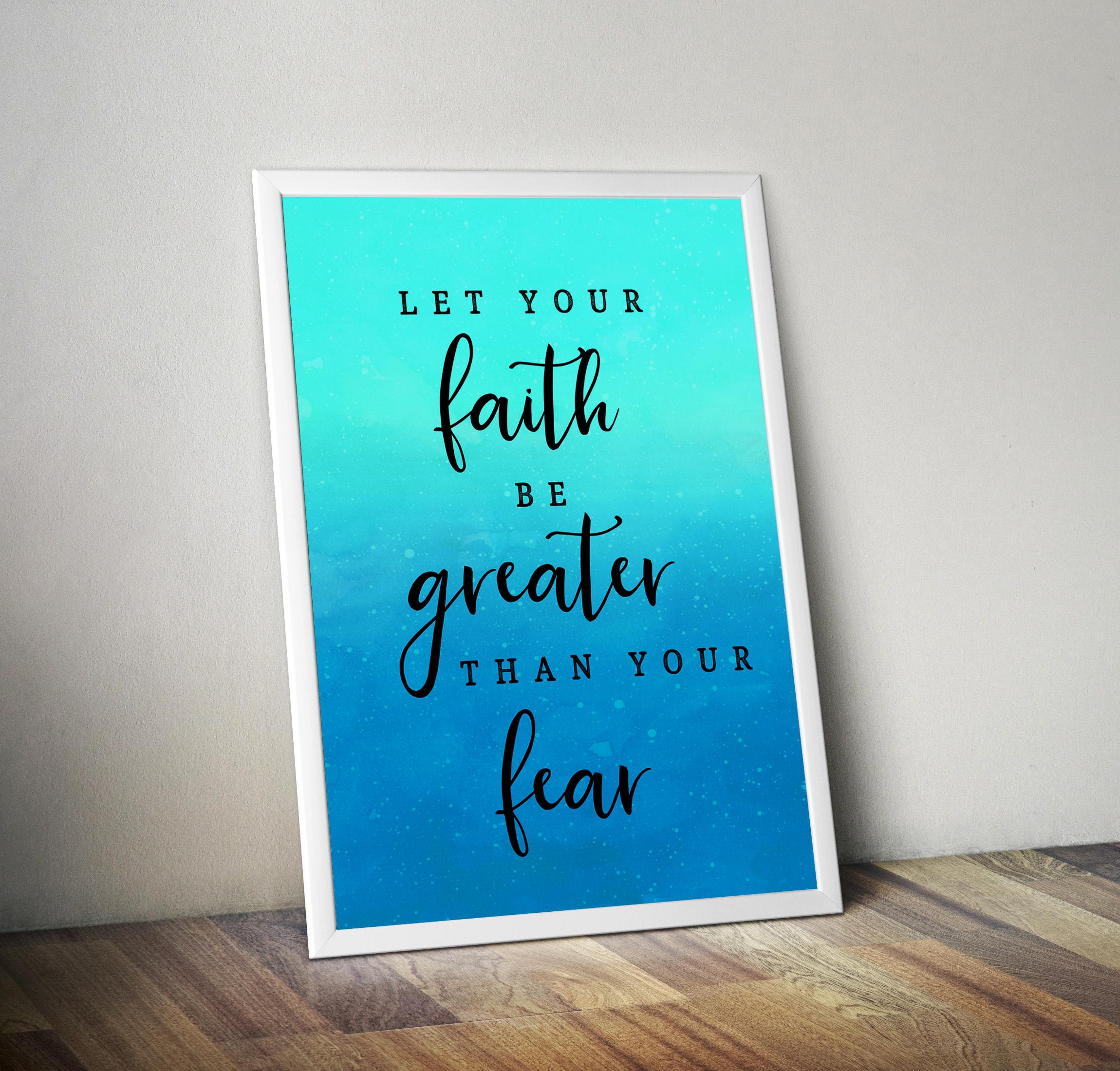 Teal Let your faith Context2